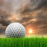 Golf by the sunset - Photo wallpaper