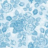 Sky-blue roses - floral wallpaper