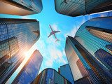 Flight above the city - Photo wallpaper