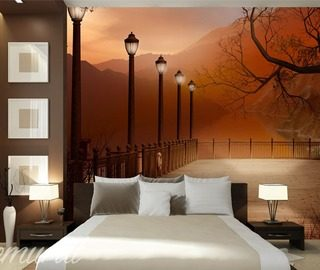 an evening bedroom with a view bedroom wallpaper mural photo wallpapers demural