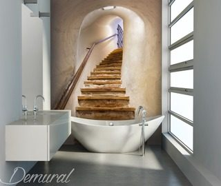 a blissful mirage bathroom wallpaper mural photo wallpapers demural