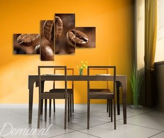 a coffee puzzle canvas prints in dining room canvas prints demural