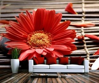 under the umbrella of petals living room wallpaper mural photo wallpapers demural