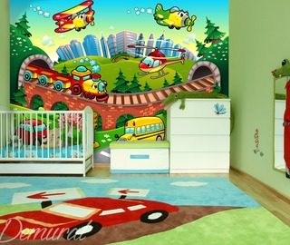 a soft landing childs room wallpaper mural photo wallpapers demural