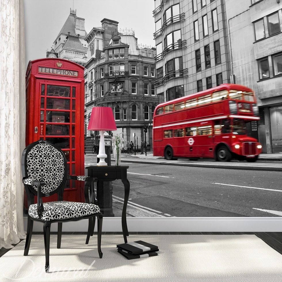 Hello, it's London Cities wallpaper mural Photo wallpapers Demural