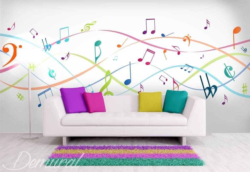 Music to your eyes Teenager's room wallpaper, mural Photo wallpapers Demural