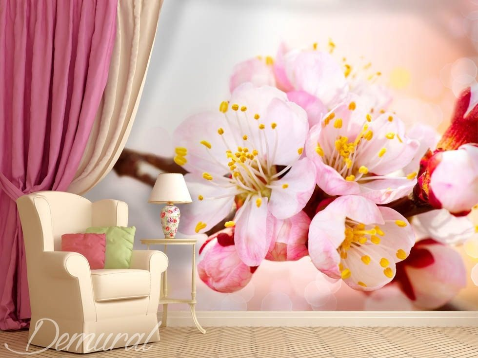 A blossoming nook Flowers wallpaper mural Photo wallpapers Demural