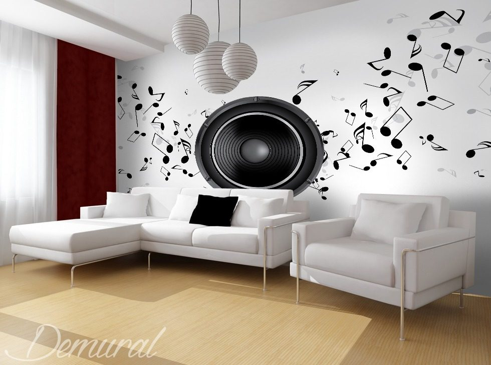 A club for connoisseurs of sound Living room wallpaper mural Photo wallpapers Demural