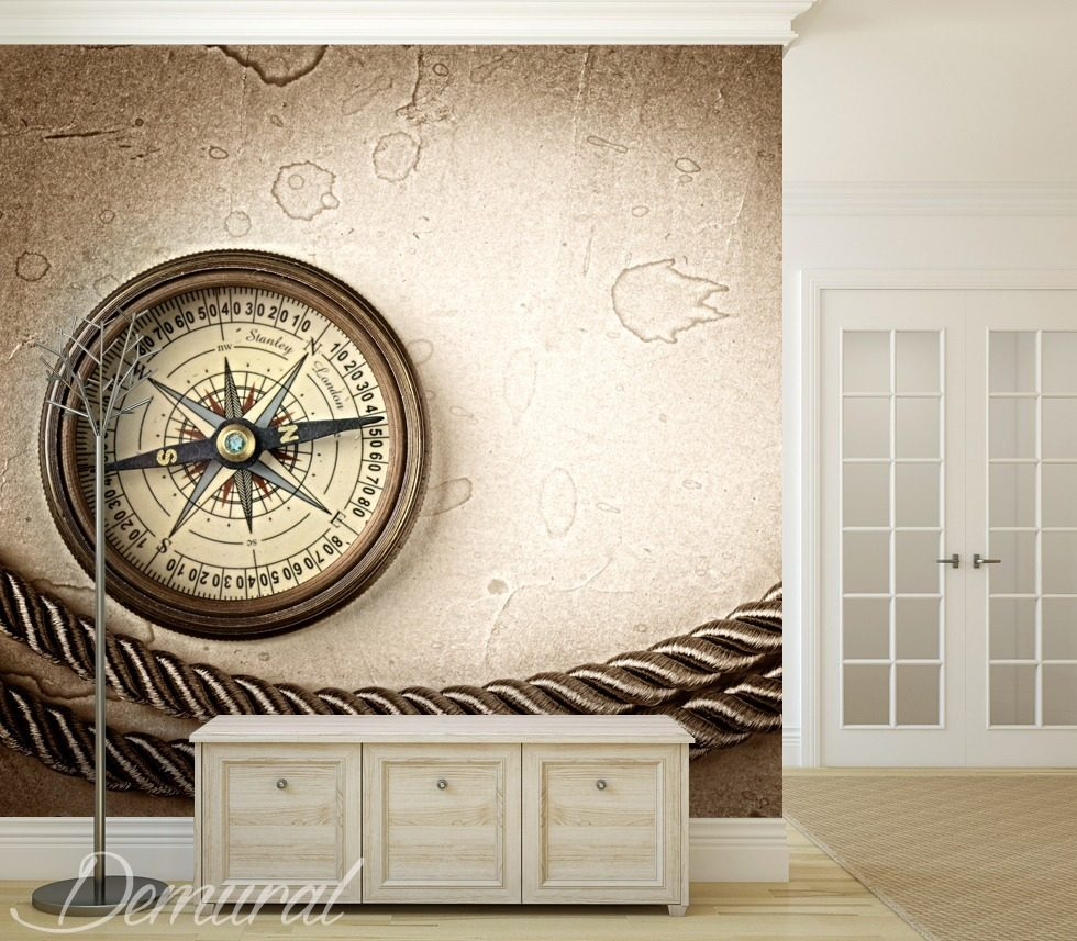 The right course Sepia wallpaper mural Photo wallpapers Demural