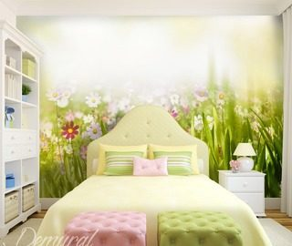 joyful spring childs room wallpaper mural photo wallpapers demural