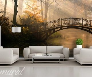 a summer house in a park bridges wallpaper mural photo wallpapers demural