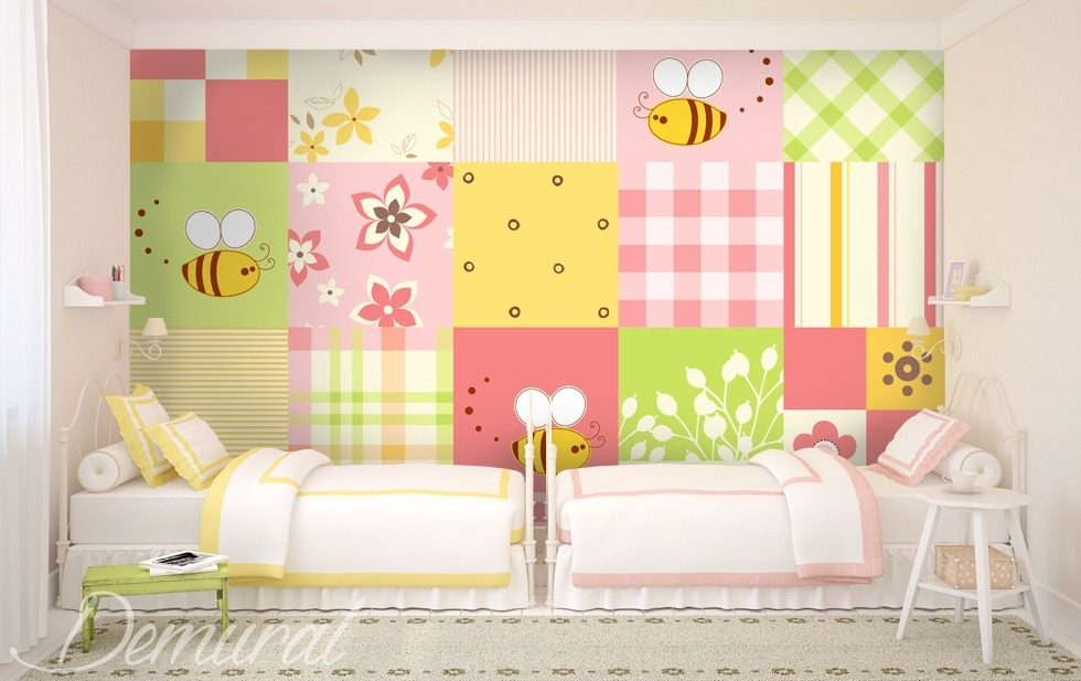 Big-small patchwork Child's room wallpaper mural Photo wallpapers Demural