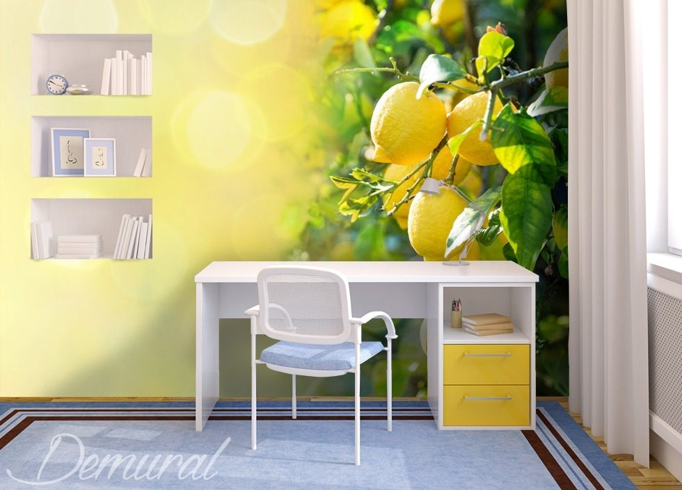 Sicilian lemon Teenager's room wallpaper, mural Photo wallpapers Demural