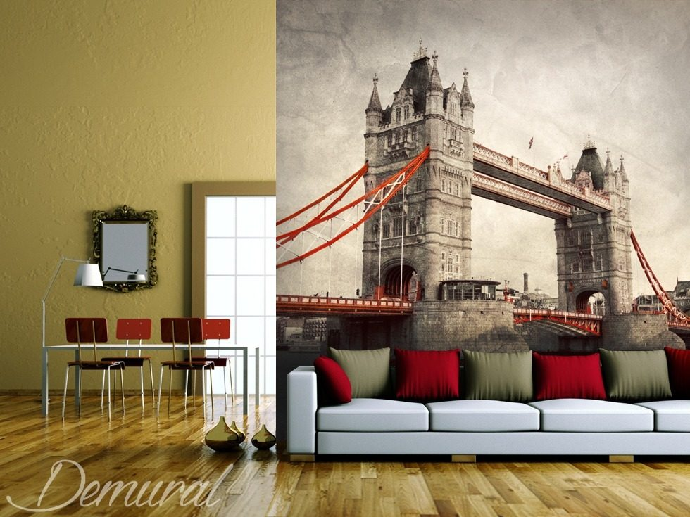 A house on the River Thames Bridges wallpaper mural Photo wallpapers Demural