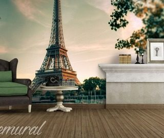 under the eiffel tower eiffel tower wallpaper mural photo wallpapers demural
