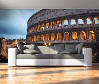 the coliseum in a dark colour architecture wallpaper mural photo wallpapers demural