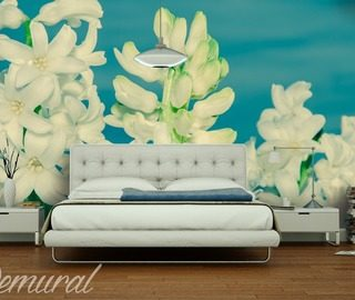 close up on flowers bedroom wallpaper mural photo wallpapers demural
