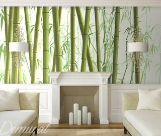 among bamboos oriental wallpaper mural photo wallpapers demural