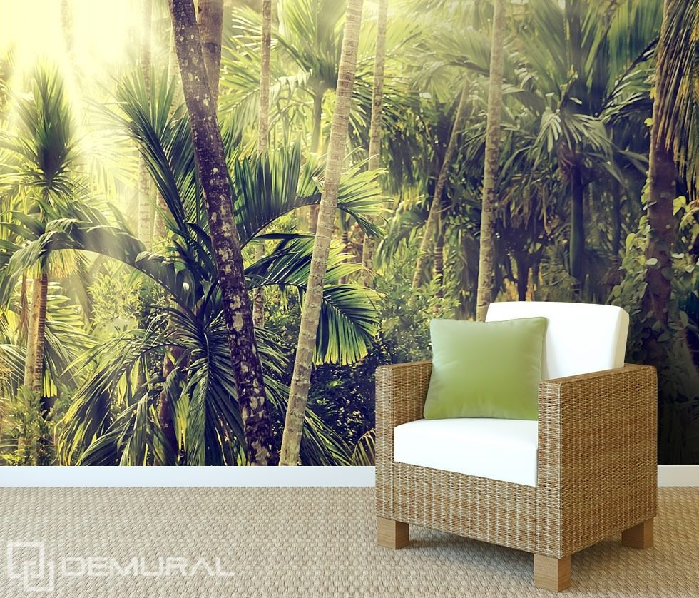 In a wild jungle Forest wallpaper mural Photo wallpapers Demural