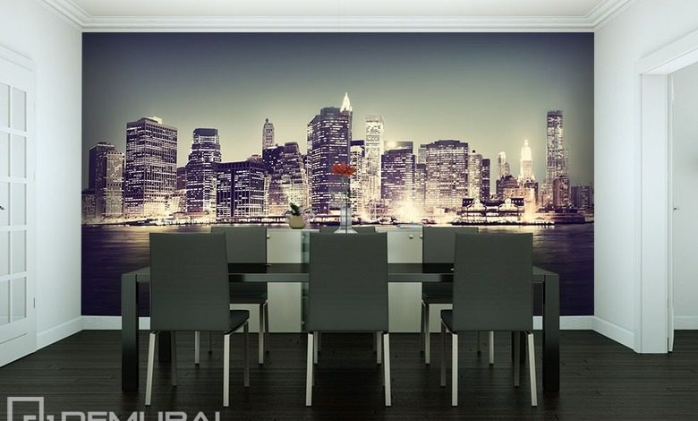 in the big city cities wallpaper mural photo wallpapers demural