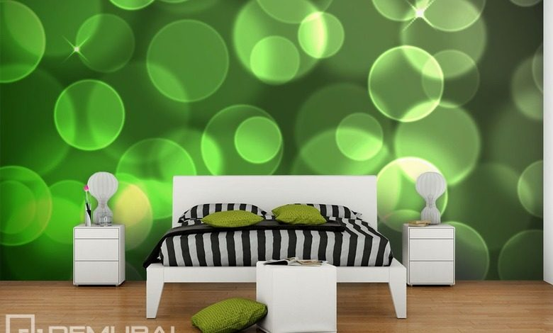 green circles abstraction wallpaper mural photo wallpapers demural