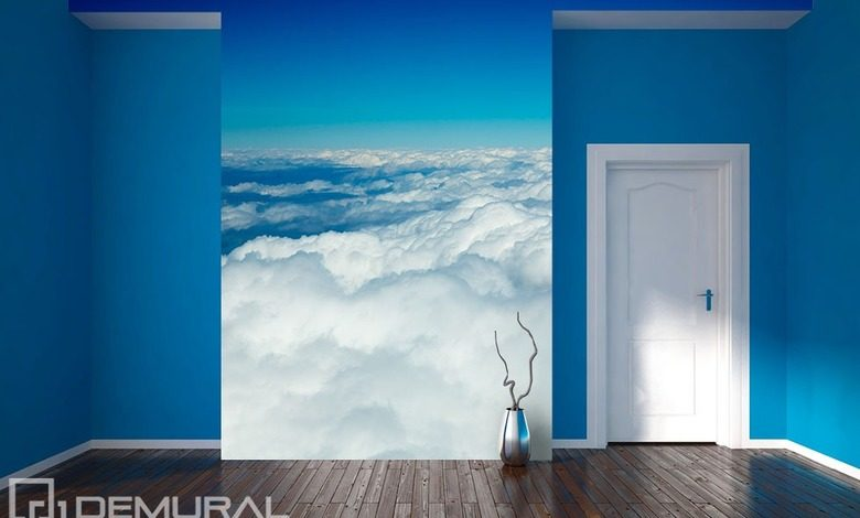 blue white decoration of the sky sky wallpaper mural photo wallpapers demural