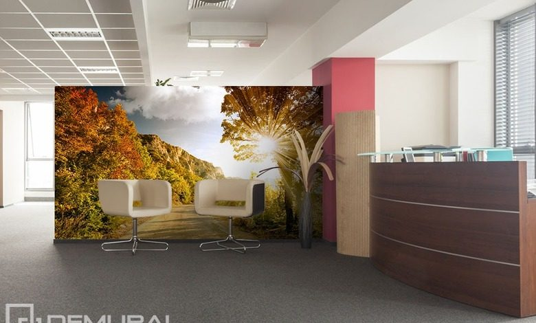 sunny alley office wallpaper mural photo wallpapers demural