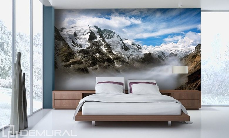 valley in the clouds bedroom wallpaper mural photo wallpapers demural