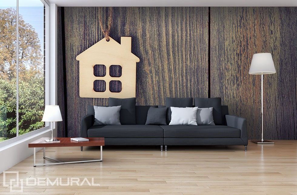 Little house on the wood Patterns wallpaper mural Photo wallpapers Demural