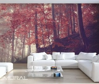 forest hillside living room wallpaper mural photo wallpapers demural