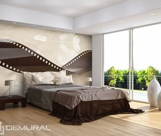 wavy plate sepia wallpaper mural photo wallpapers demural