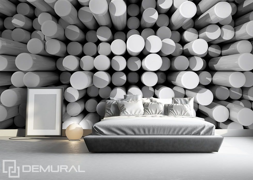Dance of poles Three-dimensional wallpaper, mural Photo wallpapers Demural