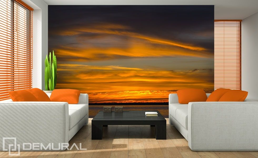 The sea sky during the sunset Sunsets wallpaper mural Photo wallpapers Demural