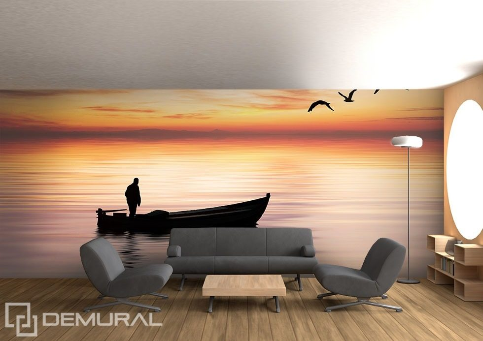 Lonely voyage Landscapes wallpaper mural Photo wallpapers Demural