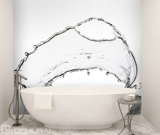 splashing water bathroom wallpaper mural photo wallpapers demural