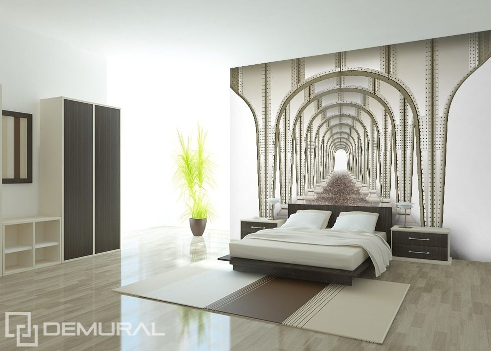 Symmetric tunnel Optically magnifying wallpaper, mural Photo wallpapers Demural