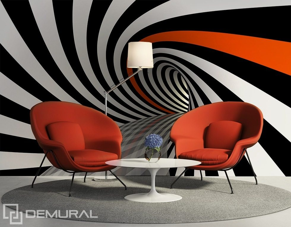 Twisted tunnel Three-dimensional wallpaper, mural Photo wallpapers Demural