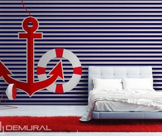 sailing style nautical style wallpaper mural photo wallpapers demural