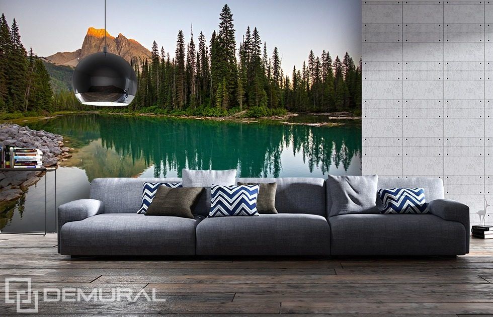 Next to the mountain lake Landscapes wallpaper mural Photo wallpapers Demural