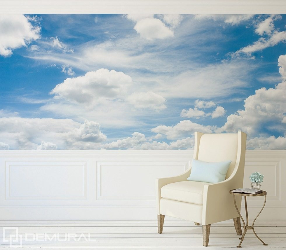 A walk in the clouds Sky wallpaper mural Photo wallpapers Demural