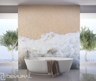 sea breeze bathroom wallpaper mural photo wallpapers demural