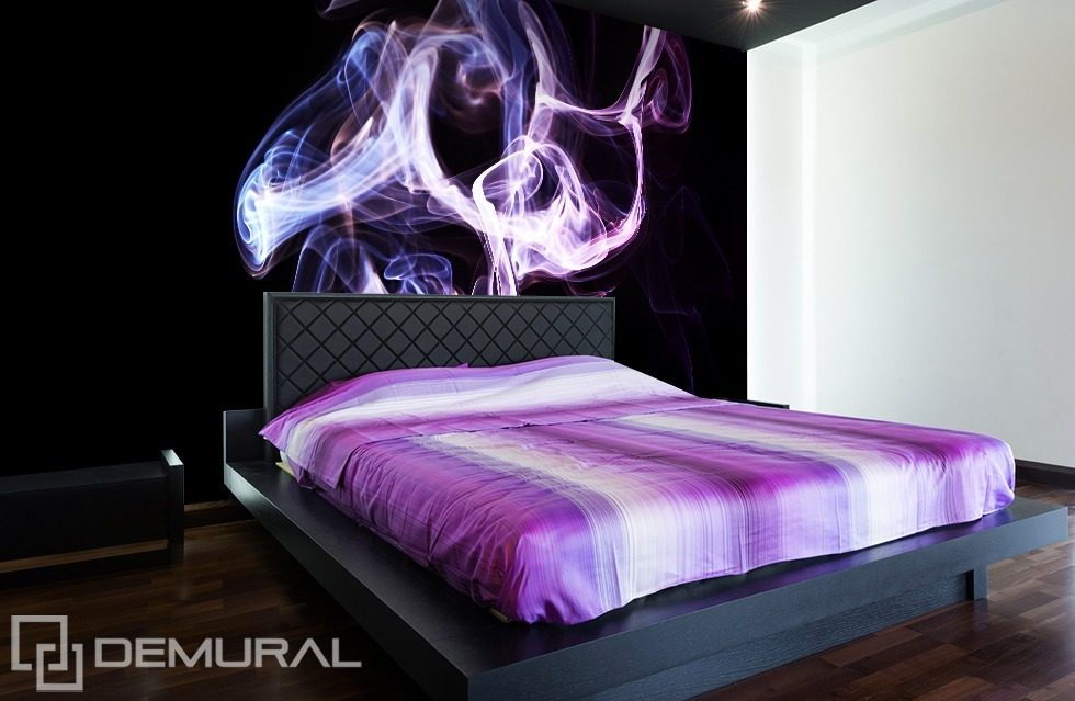 Purple craziness Abstraction wallpaper mural Photo wallpapers Demural