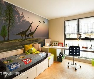 return to the prehistoric roots boys room wallpaper mural photo wallpapers demural