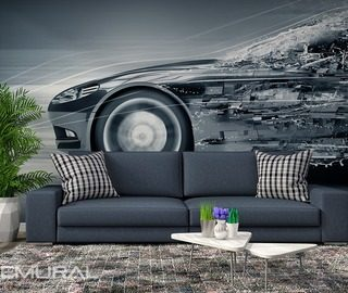 metallic mobile monochromatic wall murals photo wallpapers vehicles photo wallpapers demural