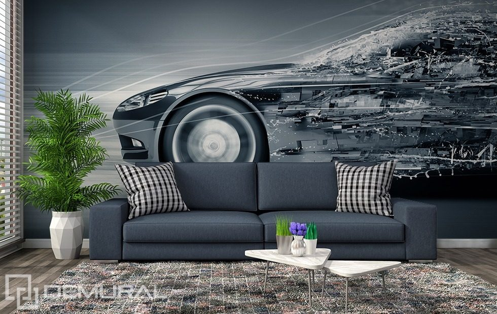 Metallic, mobile, monochromatic Wall Murals Photo Wallpapers Vehicles Photo wallpapers Demural