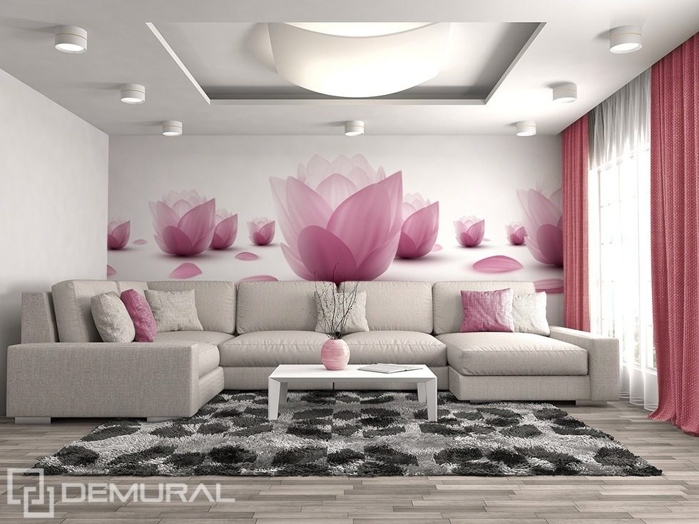 Floristic gentleness Flowers wallpaper mural Photo wallpapers Demural