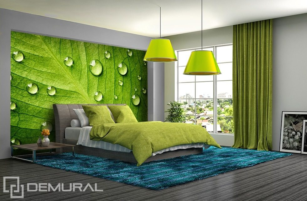 I feel the green - Walls with leafs Bedroom wallpaper mural Photo wallpapers Demural