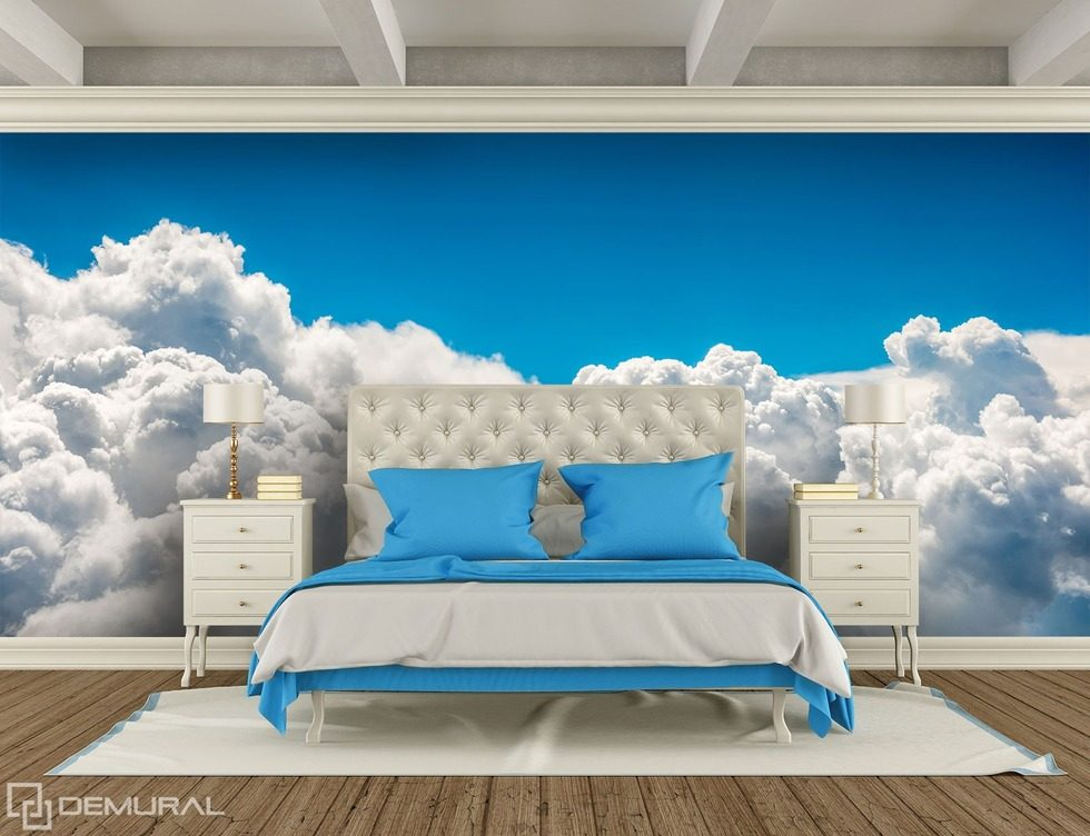 With the head in the clouds - Sky dreams Sky wallpaper mural Photo wallpapers Demural