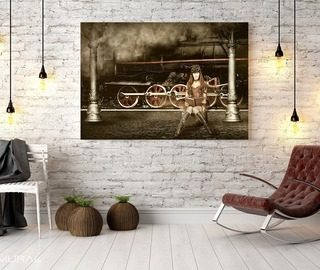 back to the past canvas prints retro vintage canvas prints demural