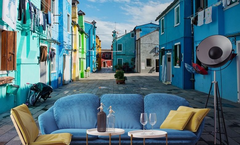 in colors of city streets streets wallpaper mural photo wallpapers demural